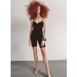 Lace Trim Bodysuit Size S NWT